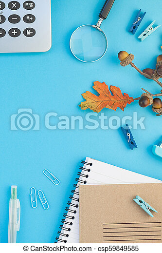 Top view back to school concept - csp59849585