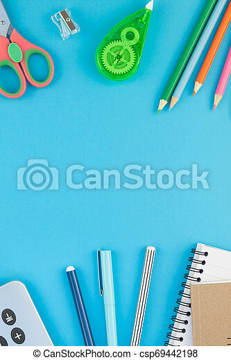 Top view back to school concept - csp69442198