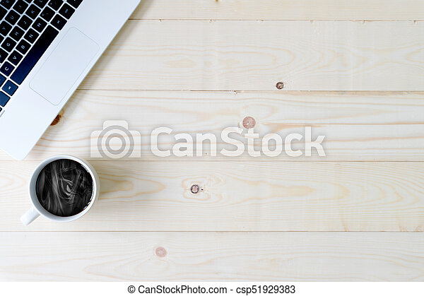 Top view desk with copy space - csp51929383