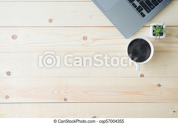Top view desk with copy space - csp57004355