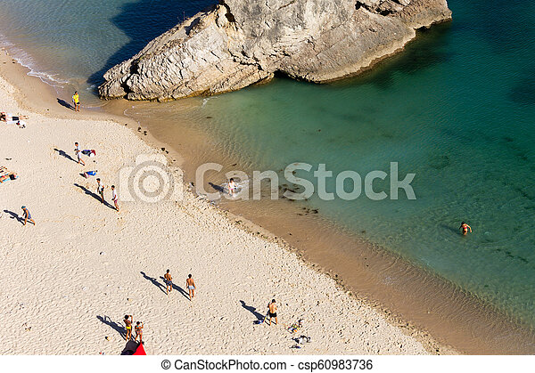 Top-View From People on the Beach - csp60983736