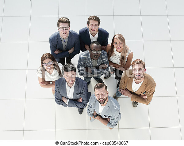 top view. image of a group of successful young businessmen - csp63540067