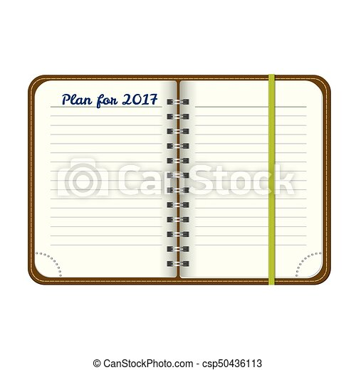 Top view notepad template. vector realistic blank magazine... vector ...