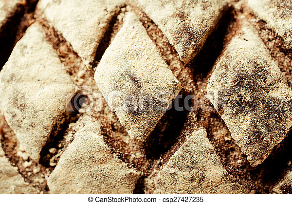 Top view of a decorative loaf of bread - csp27427235