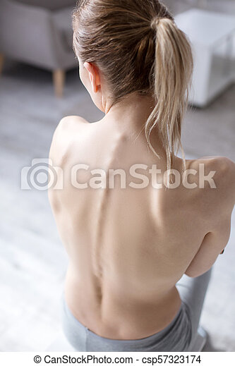 Top view of a female back - csp57323174