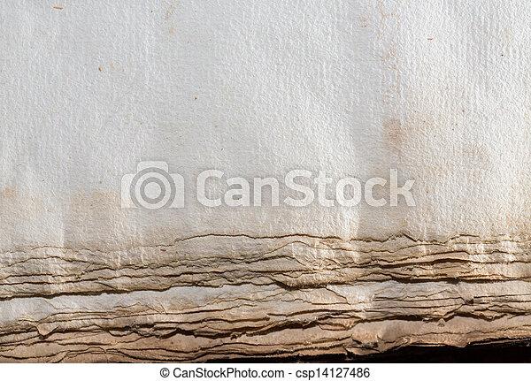 Top view of antique book - csp14127486