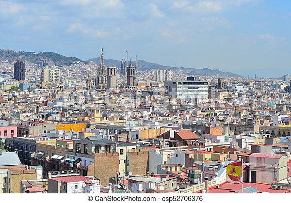 Top-view of Barcelona - csp52706376