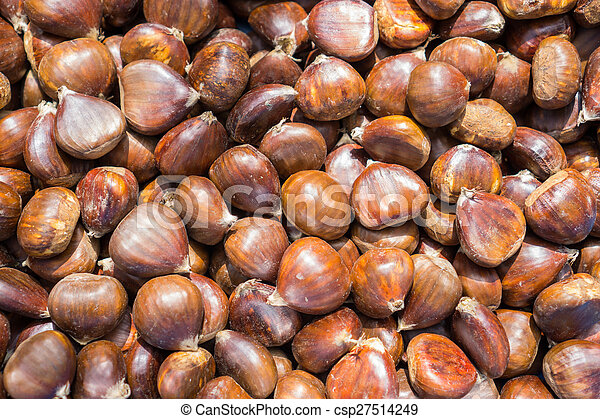 Top view of chestnuts - csp27514249