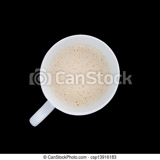 Top view of coffee - csp13916183