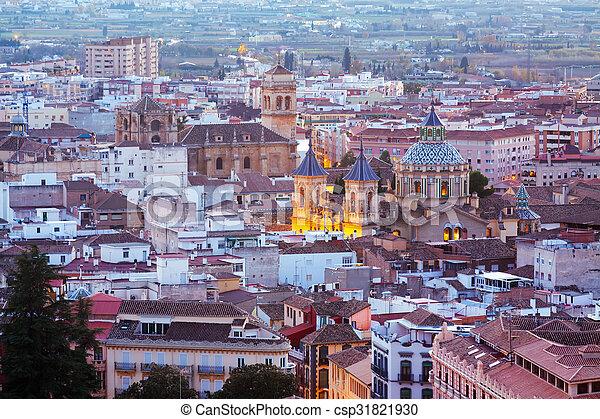 Top view of Granada in twilight - csp31821930