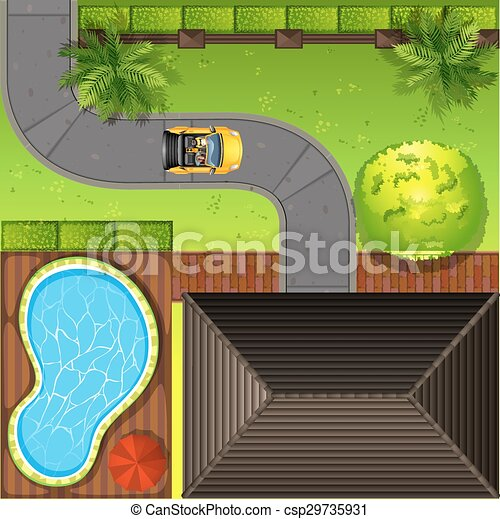 top-view-of--house-eps-vectors_csp29735931 Free D House Plant Top View Vector Transparencies on