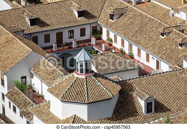 Top view of roof in granada - csp45957563