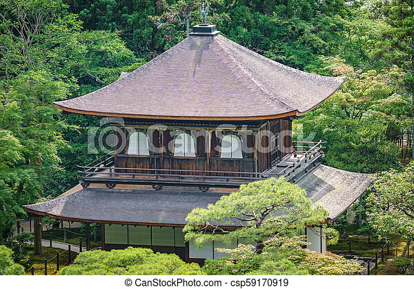 Top view of silver temple in Kyoto - csp59170919