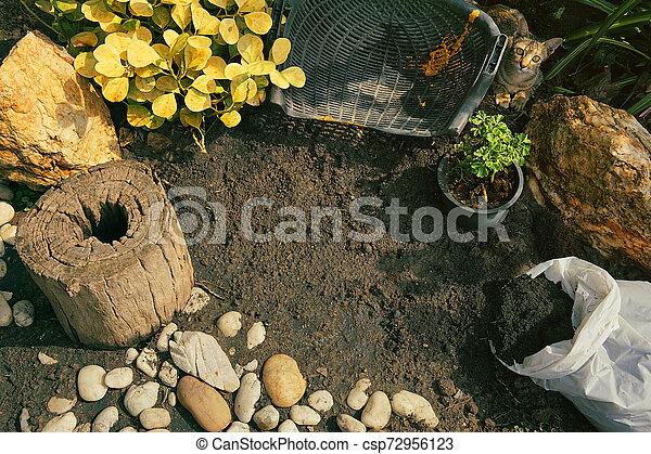 Top view of small garden - csp72956123