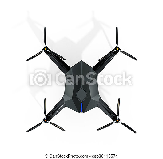Top View Of Surveillance Drone Stock Illustration