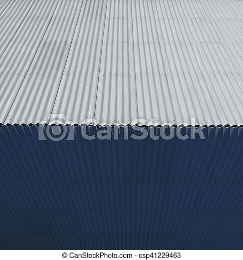 Top view of the slate roof of the house. Slate roofing material - csp41229463