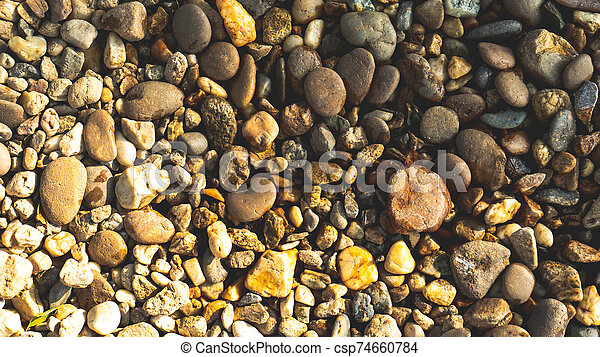 top view stone on background - csp74660784