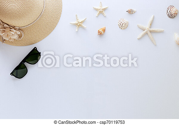 Top view vacation summer background - csp70119753