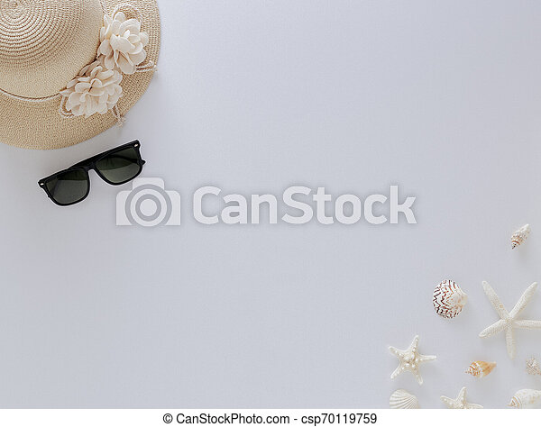 Top view vacation summer background - csp70119759