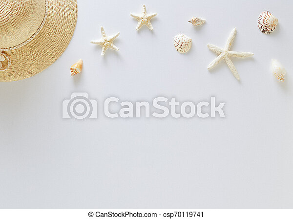 Top view vacation summer background - csp70119741