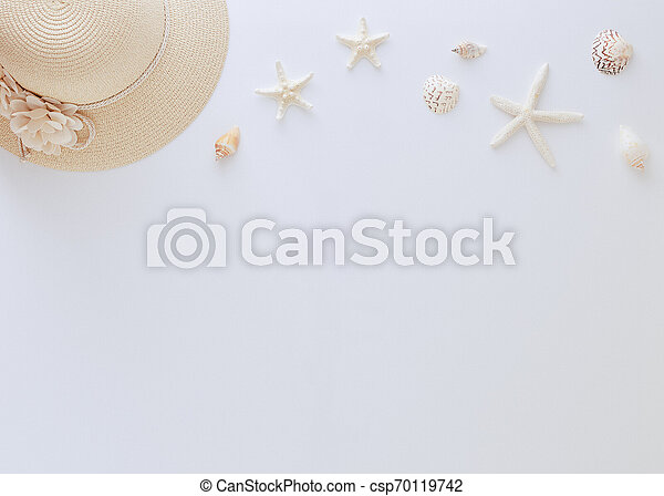 Top view vacation summer background - csp70119742