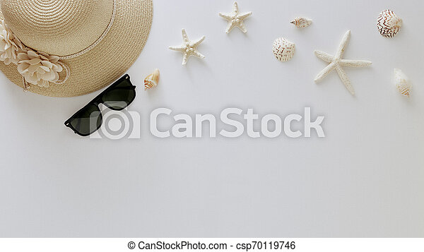Top view vacation summer background - csp70119746