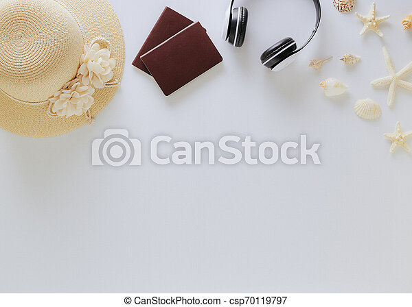 Top view vacation summer background - csp70119797
