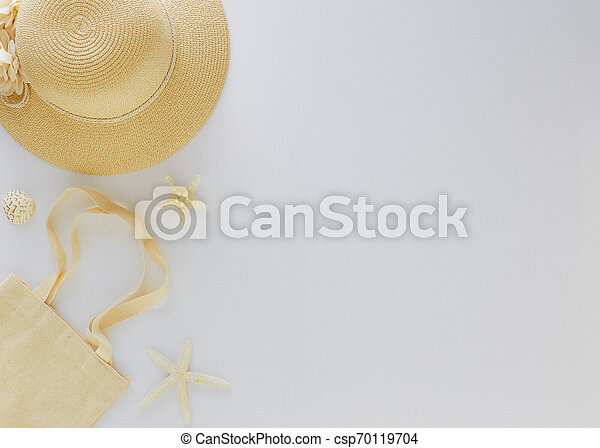 Top view vacation summer background - csp70119704