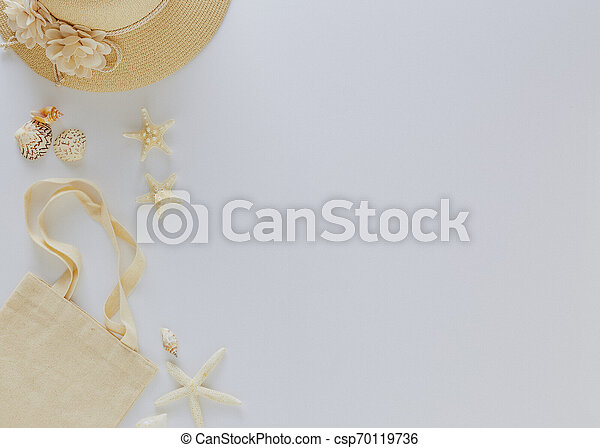 Top view vacation summer background - csp70119736