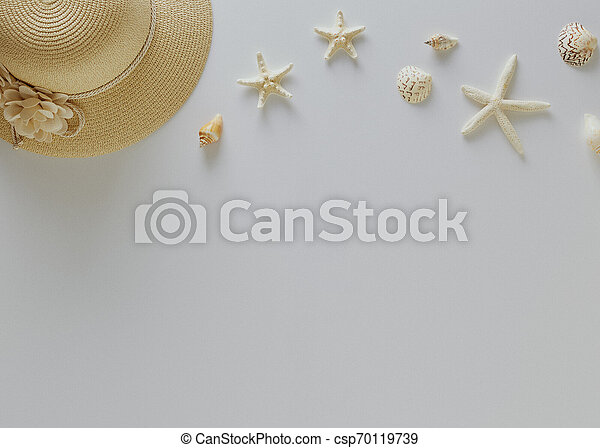 Top view vacation summer background - csp70119739