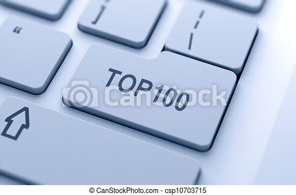 Top100 button - csp10703715