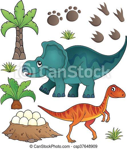 Dinosaurier Thema 6 - csp37648909