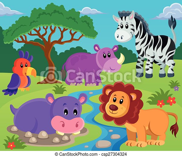 topic, imagem, 2, animais - csp27304324