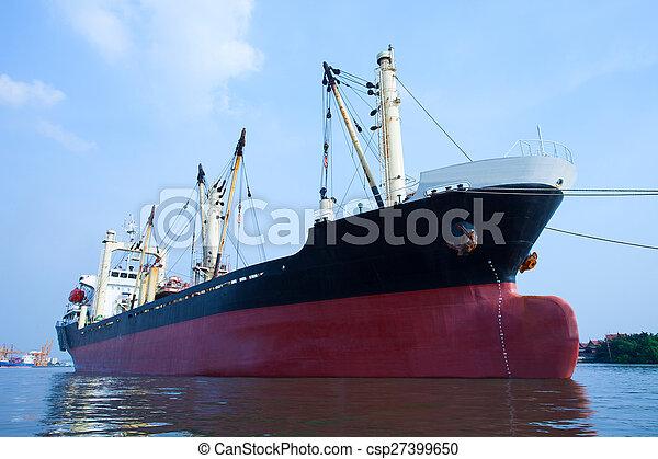 topic, usage, récipient, commercial, flotter, eau, importation, bateau, rivière, port, transport - csp27399650