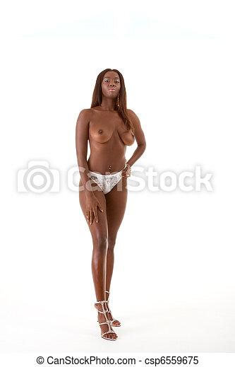 Naked black women in high heels