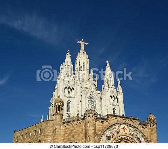 topo, church/temple, barcelona, espanha, colina, tibidabo - csp11729878