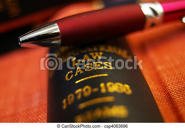 topo, livro, closeup, caneta, lei - csp4063696