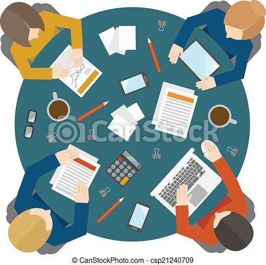 topo, reunião, negócio, vista - csp21240709