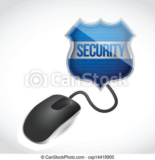 topo, sicurezza, collegato, scudo, segno - csp14418900
