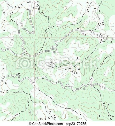 Topographic Map - csp23179755
