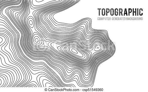 Topographic map contour background. topo map with elevation. contour ...
