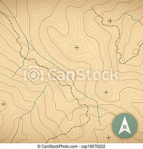 Topographic Map - csp19076222