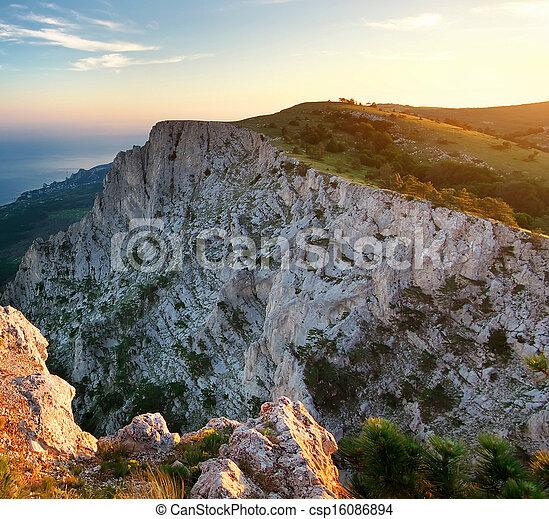 topp, mountain., man - csp16086894