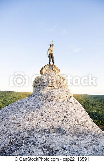 topp, mountain., man - csp22116591