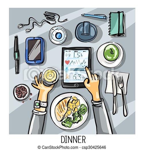 Middag för en person