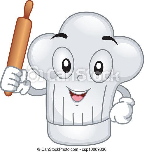 Toque mascotte pingle toque illustration tenue - Dessin cuisinier humoristique ...