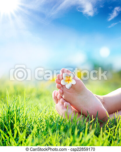toque, natureza, relaxamento - csp22859170