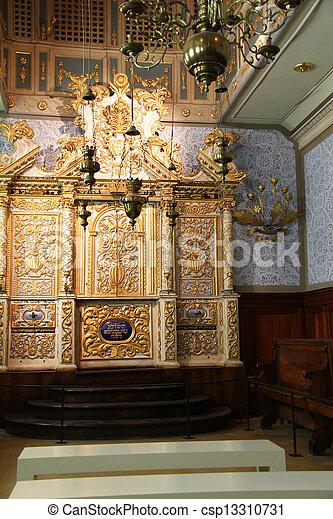 Torah Scrolls Cabinet.   Csp13310731