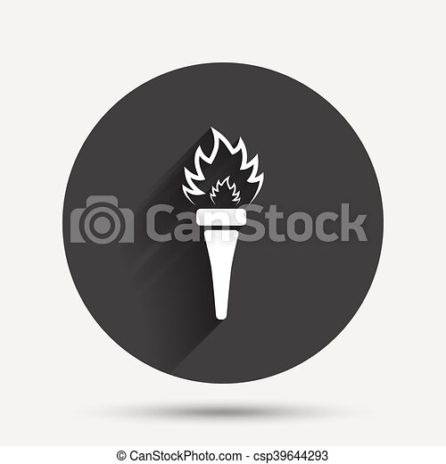 Torch flame sign icon. Fire symbol. - csp39644293