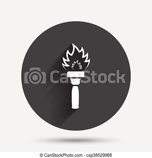 Torch flame sign icon. Fire symbol. - csp38529988